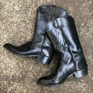 Vintage Wrangler Leather Cowboy Boots Size 7 1/2